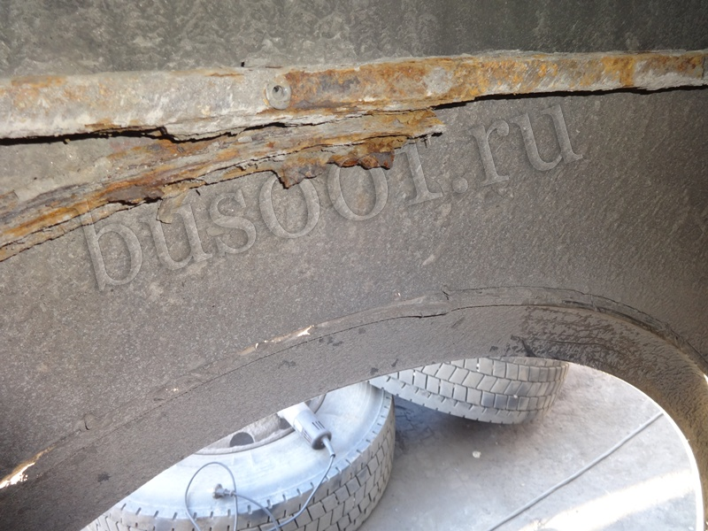 Ремонт, восстановление колесной арки автобуса